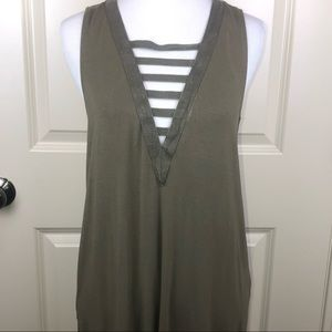 American Eagle Outfitters Green Sleeveless Tunic